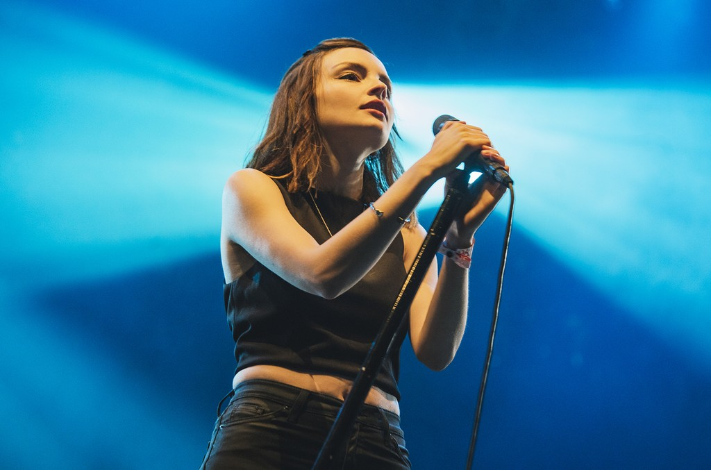 Lauren Mayberry of Chvrches performs at Lowlands Festival