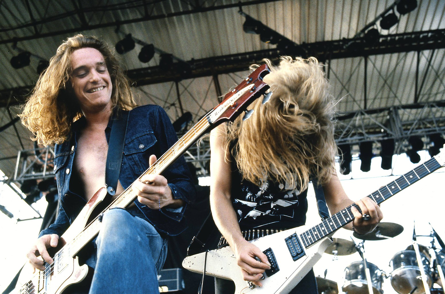 Cliff Burton and James Hetfield of Metallica