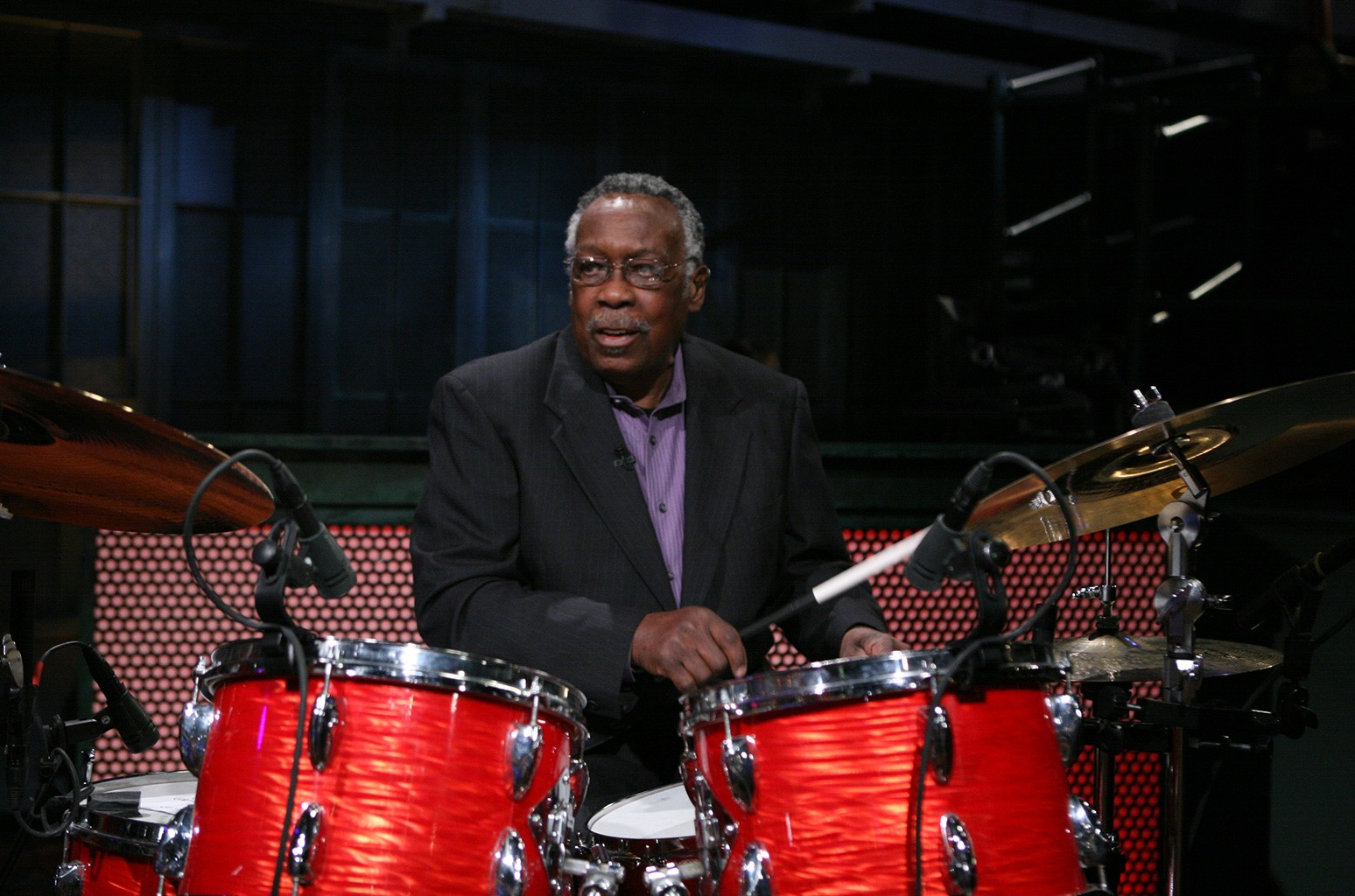 Clyde Stubblefield of Copyright Criminals All Star Band performs on March 29, 2011.