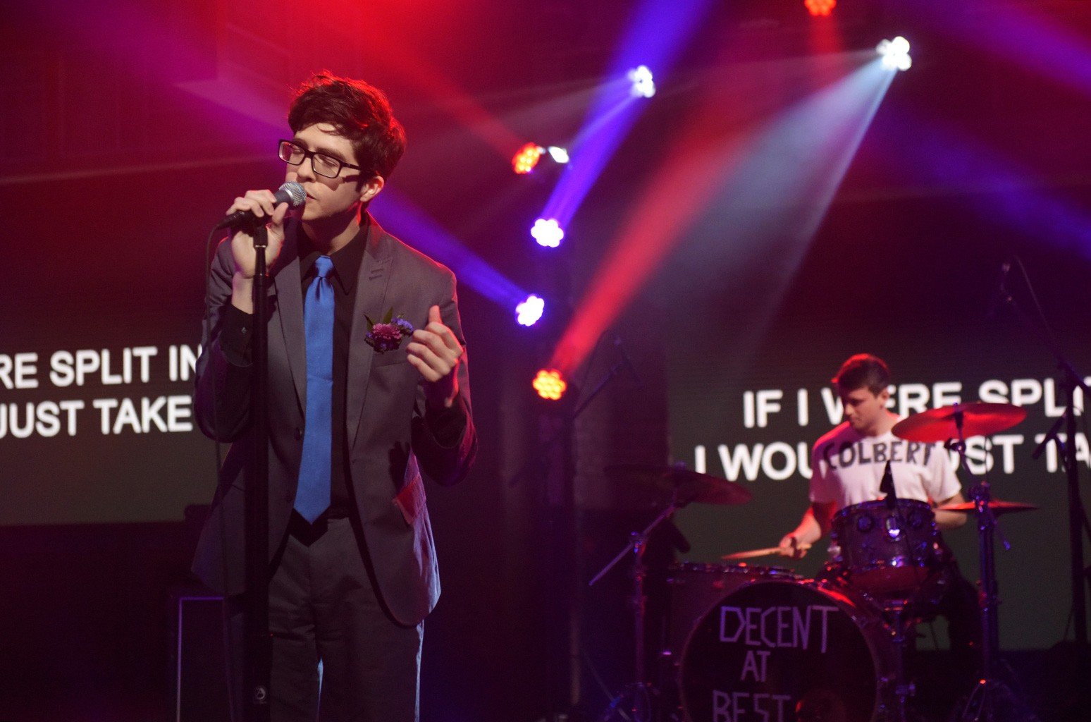 The Late Show With Stephen Colbert: With guests Car Seat Headrest during Thursday's 8/25/16 taping in New York.