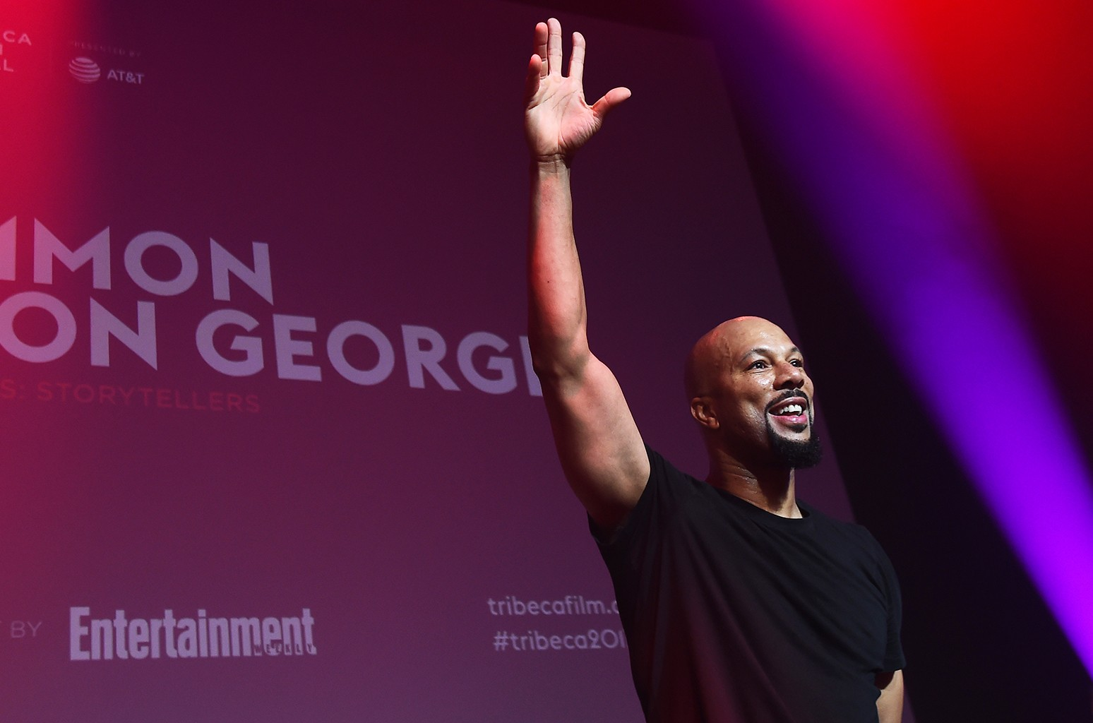 Common performs at Tribeca Talks: Common with Nelson George during the 2017 Tribeca Film Festival at Spring Studios on April 23, 2017 in New York City.