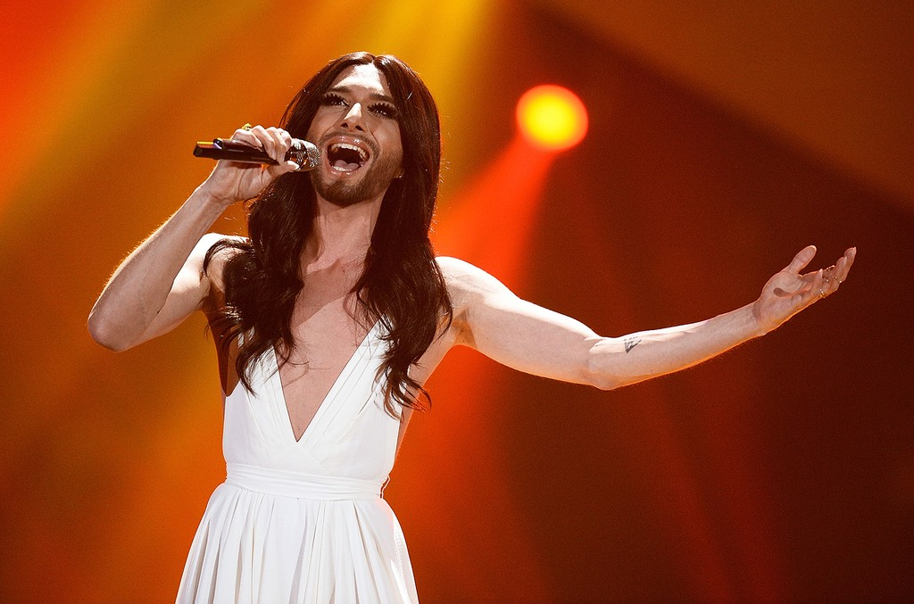 Eurovision Song Contest 2014 winner Conchita Wurst performs on March 5, 2015 in Hanover, Germany.