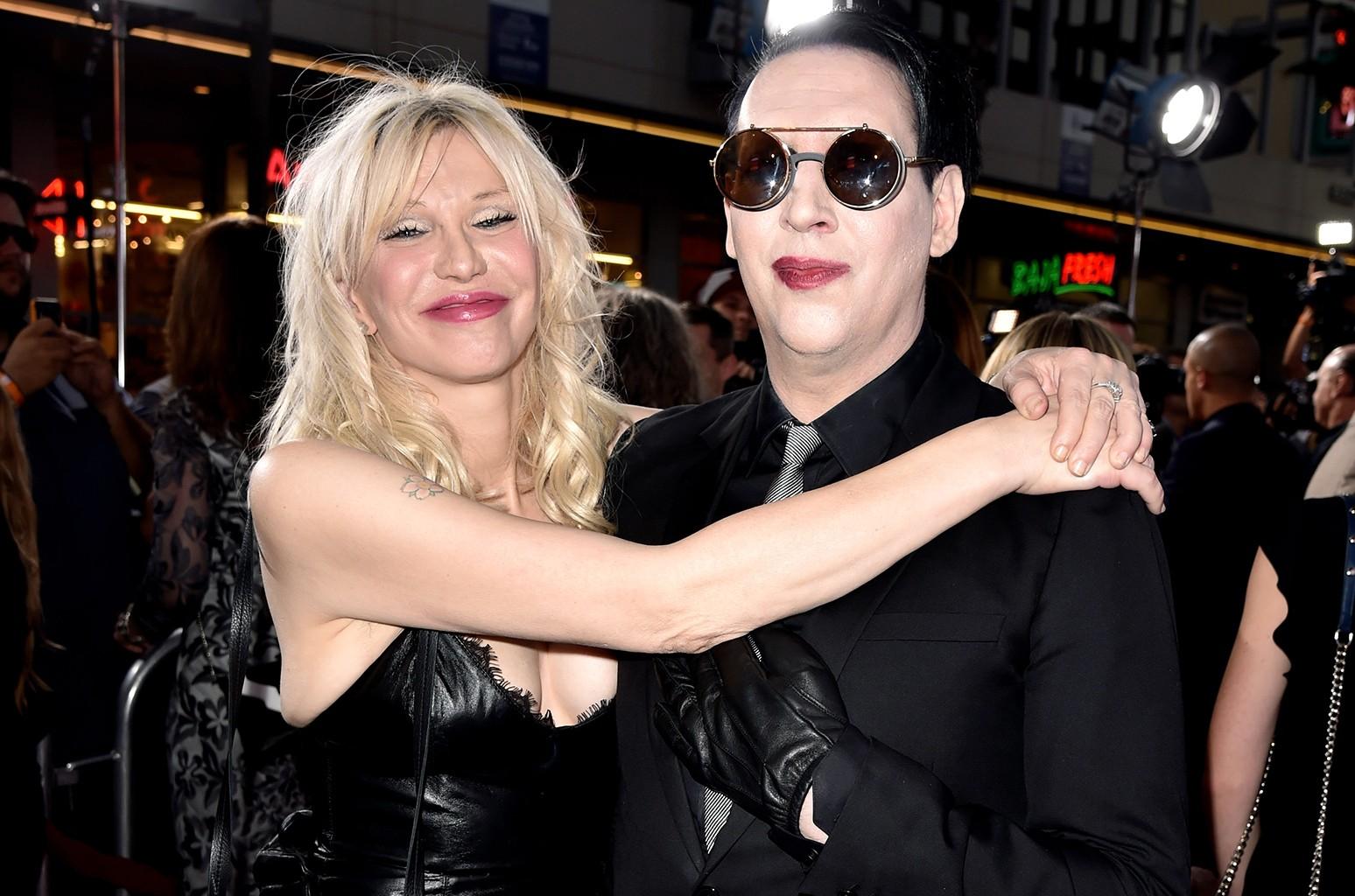 Courtney Love Marilyn Manson