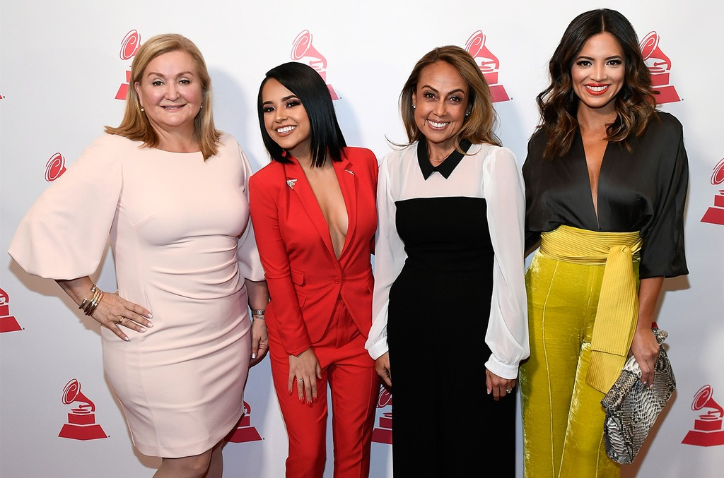 Cynthia Hudson, Rebbeca Marie Gomez, Delia Orjuela and Pamela Silva Conde attend the Leading Ladies of Entertainment Luncheon during the 19th annual Latin Grammy Awards at The Cosmopolitan of Las Vegas on Nov. 13, 2018 in Las Vegas.