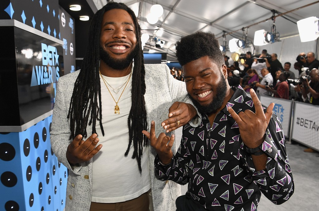 D.R.A.M. and Khalid at the 2017 BET Awards at Staples Center on June 25, 2017 in Los Angeles.