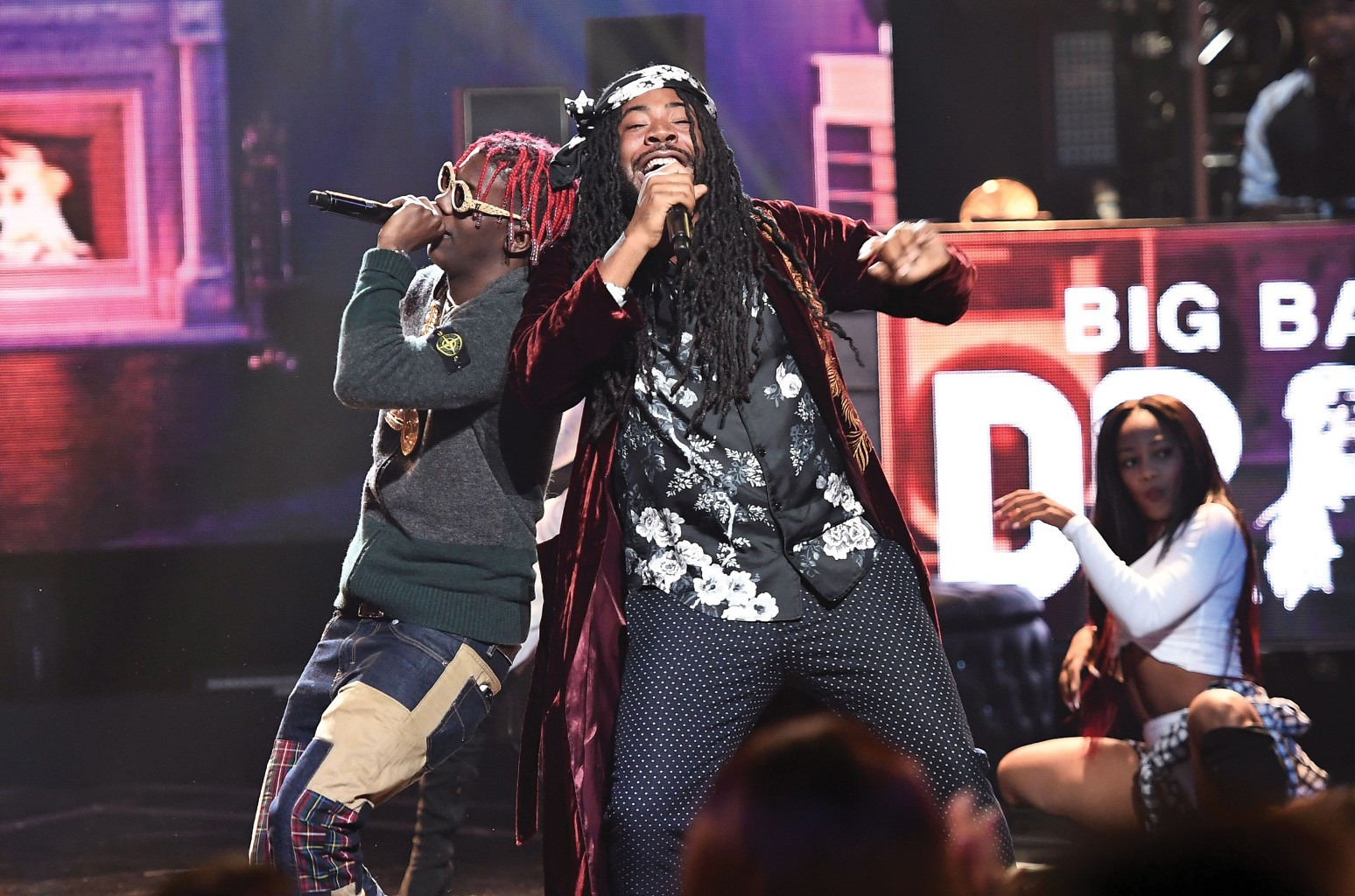D.R.A.M and Lil Yachty performs onstage during the 2016 BET Hip Hop Awards at Cobb Energy Performing Arts Center on Sept. 17, 2016 in Atlanta.