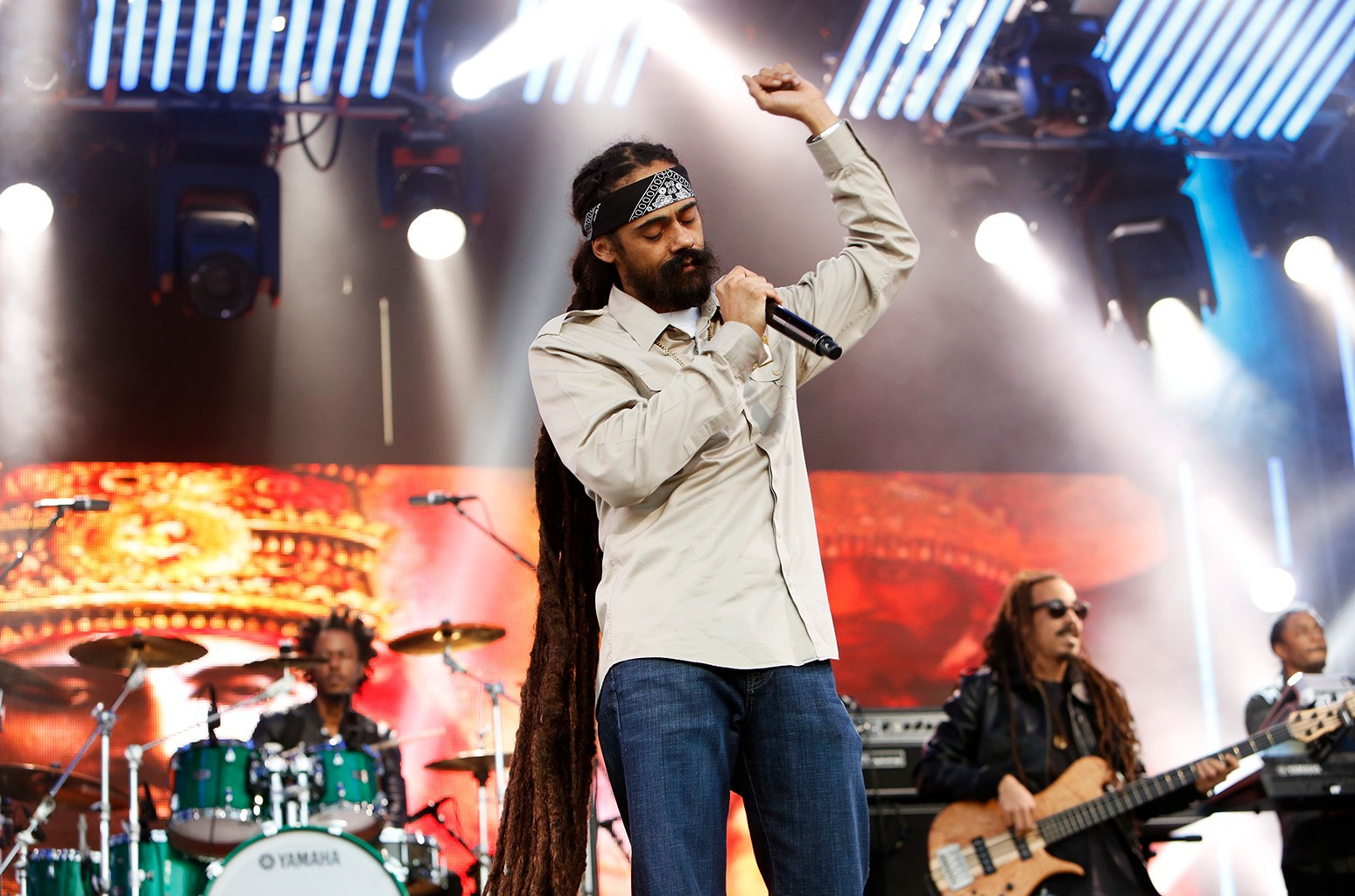 Damian Marley performs on Jimmy Kimmel Live on Sept.  29, 2016.