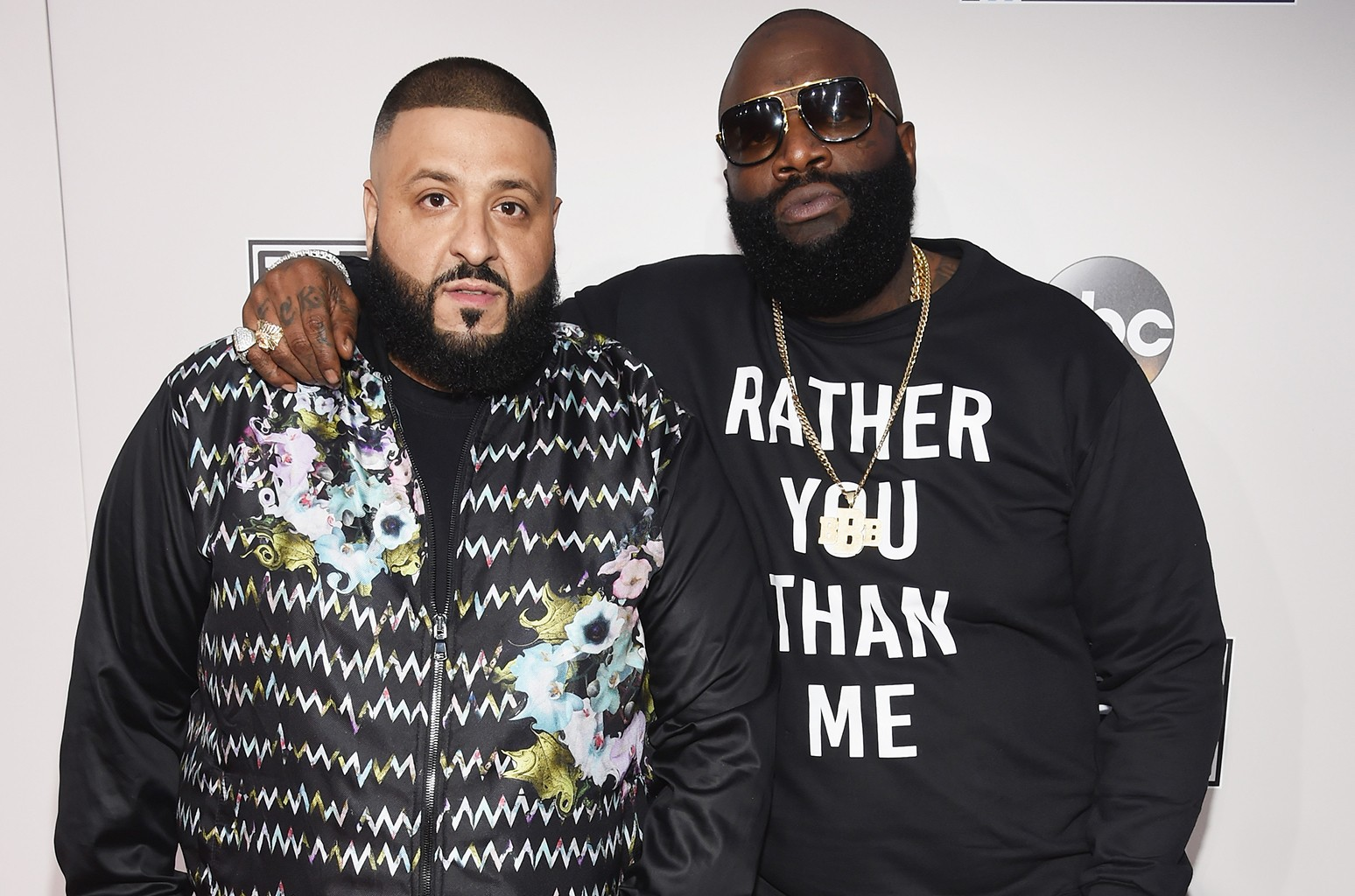 DJ Khaled and Rick Ross attend the 2016 American Music Awards