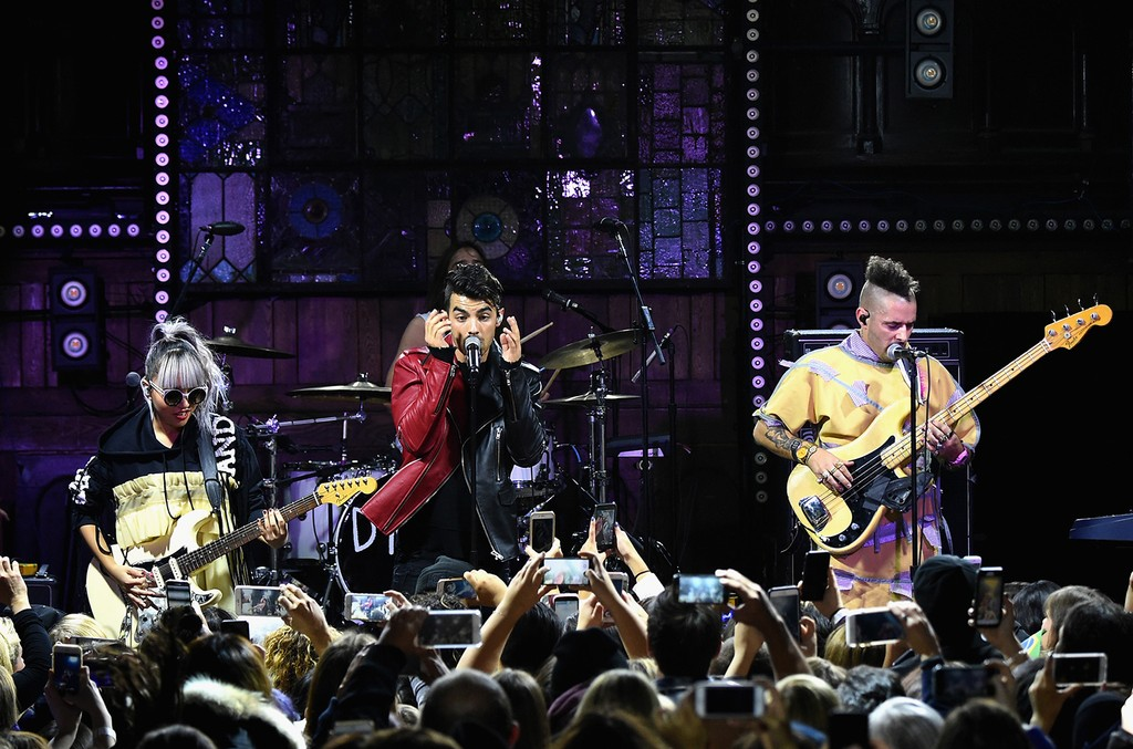 DNCE performs at the DNCE Official Album Release Show at Flash Factory in New York City, exclusively for Citi Cardmembers on Nov. 21, 2016.