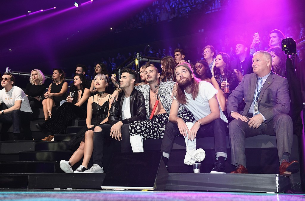 DNCE backstage during the MTV Europe Music Awards 2016