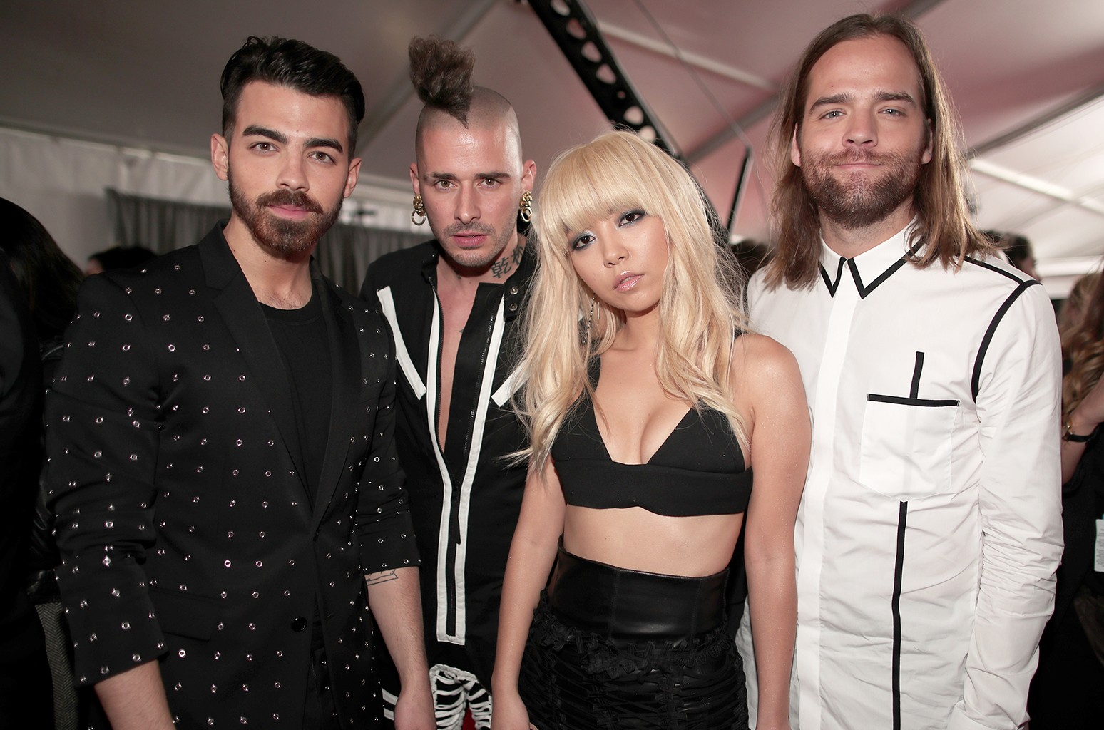DNCE  attend The 59th Grammy Awards at Staples Center on Feb. 12, 2017 in Los Angeles.