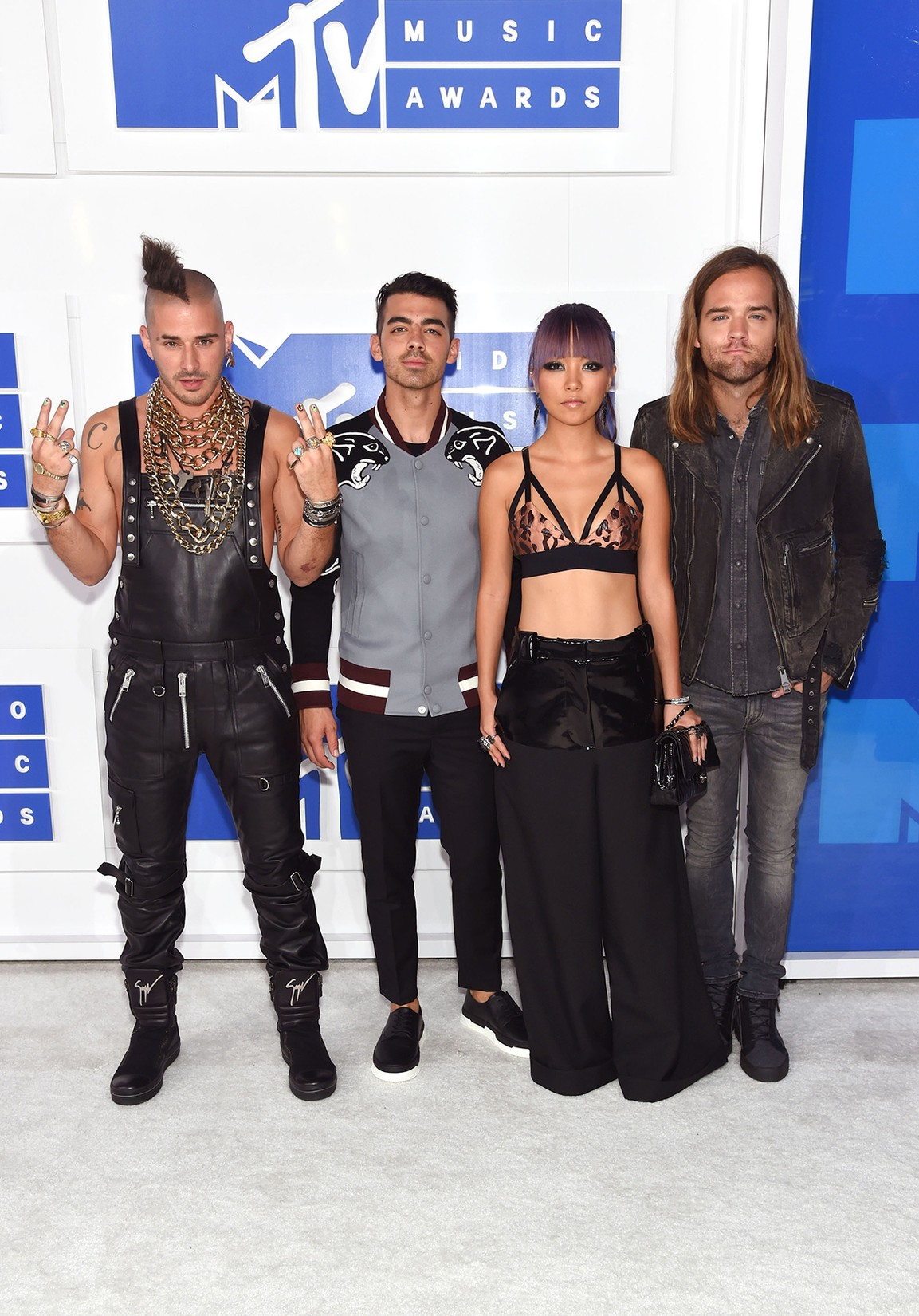 DNCE attend the 2016 MTV Video Music Awards