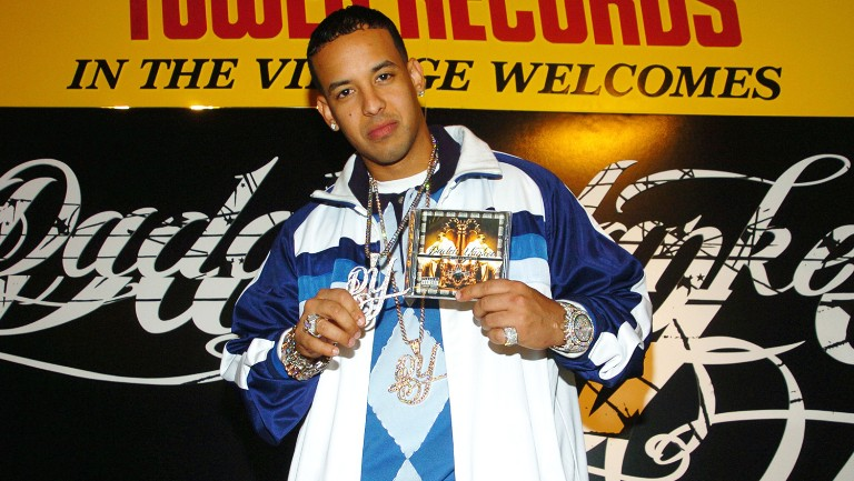 <p>Daddy Yankee promotes his album &quot&#x3B;Barrio Fino en Directo&quot&#x3B; at Tower Records in New York City on Dec. 19, 2005.</p>