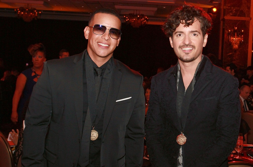 Daddy Yankee and Tommy Torres pose as part of ASCAP Latin Music Awards at Condado Vanderbilt Hotel on March 15, 2017 in San Juan, Puerto Rico.