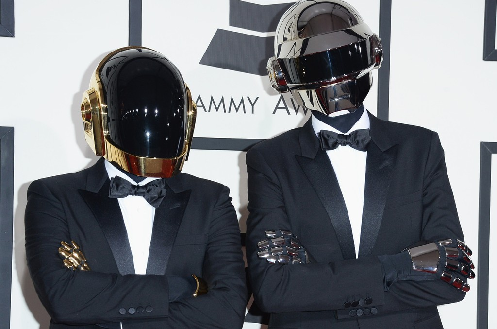 ]Guy-Manuel de Homem-Christo and Thomas Bangalter of Daft Punk attend the 56th Grammy Awards at Staples Center on Jan. 26, 2014 in Los Angeles.