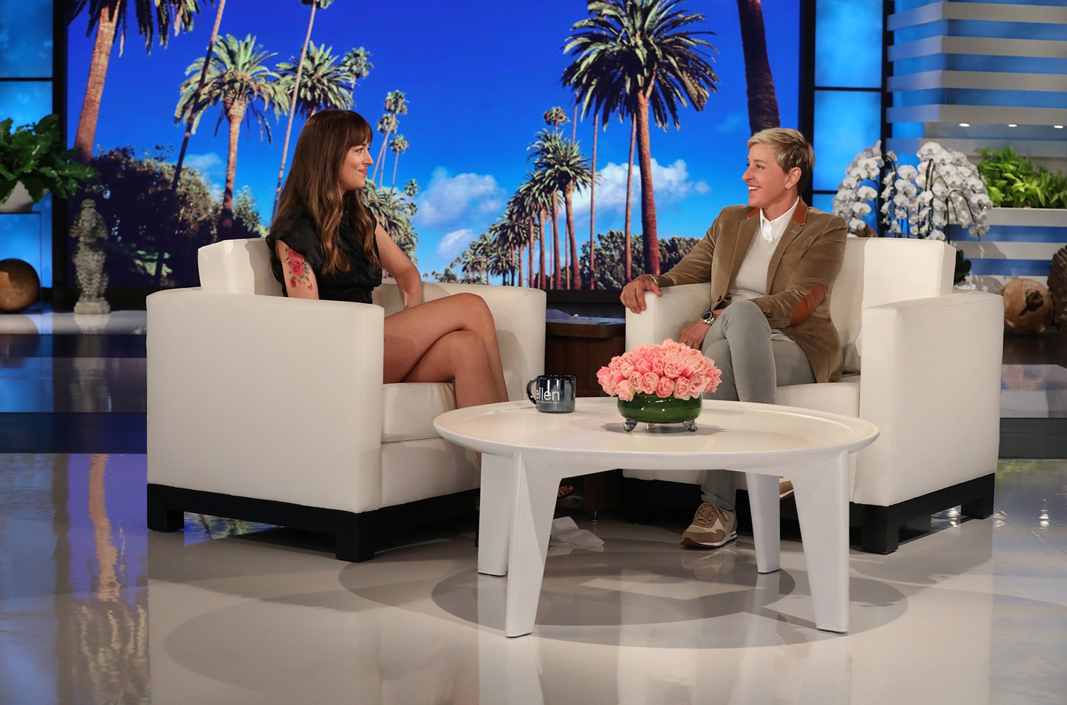 Dakota Johnson Ellen DeGeneres
