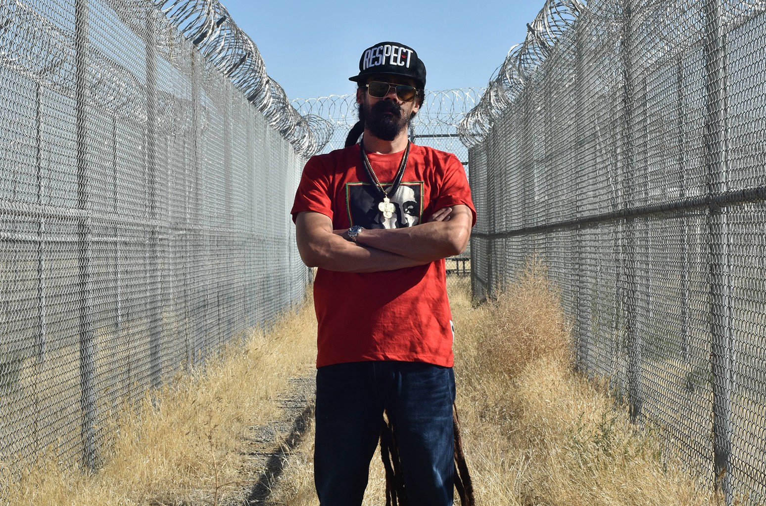 Damian Marley on Sept. 26, 2016 at the former Claremont Custody Center in Coalinga, CA, which is being converted into a cannabis grow facility.