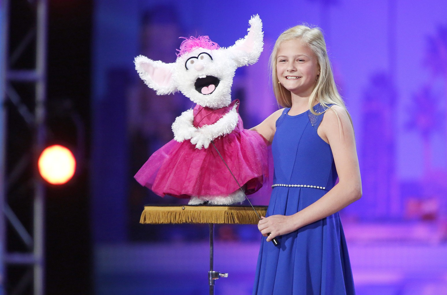 Darci Lynne performs on America's Got Talent.