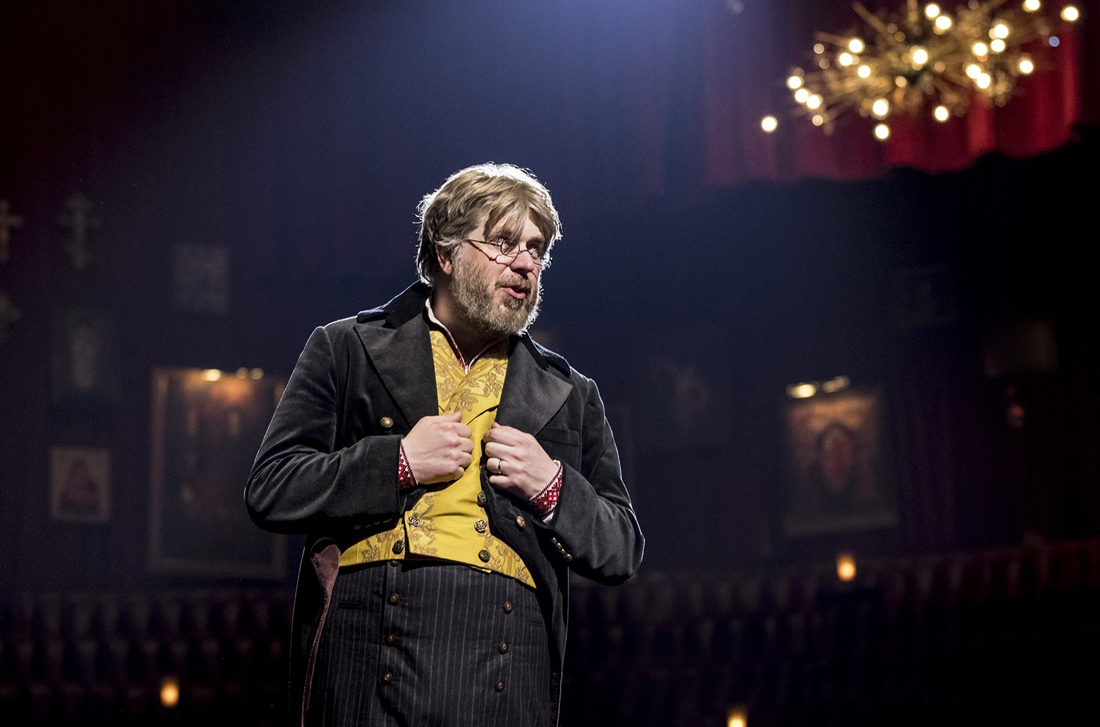 """Dave Malloy in Broadway's """"Natasha, Pierre & The Great Comet of 1812"""""""