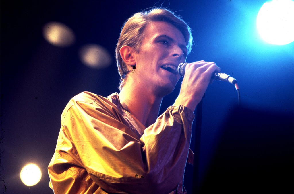 David Bowie performing in 1982.