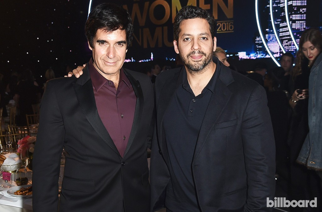 David Copperfield and David Blaine attend the Billboard Women in Music 2016 event on Dec. 9, 2016 in New York City.