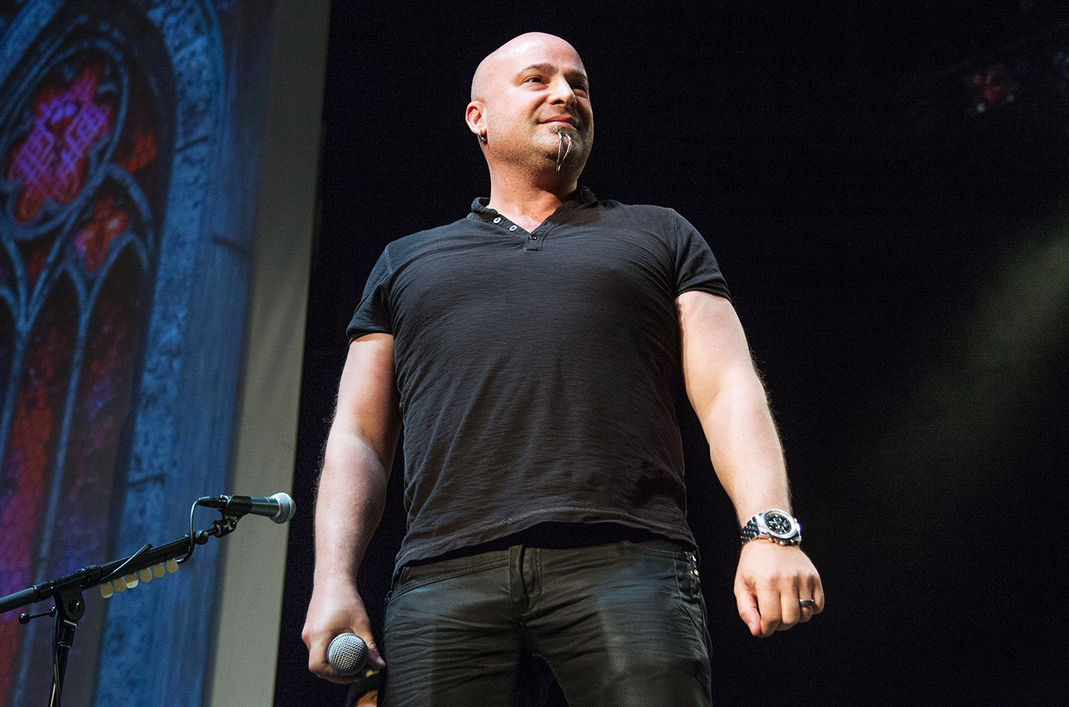 David Draiman at the Ozzfest and Knotfest in Los Angeles on May 12, 2016.