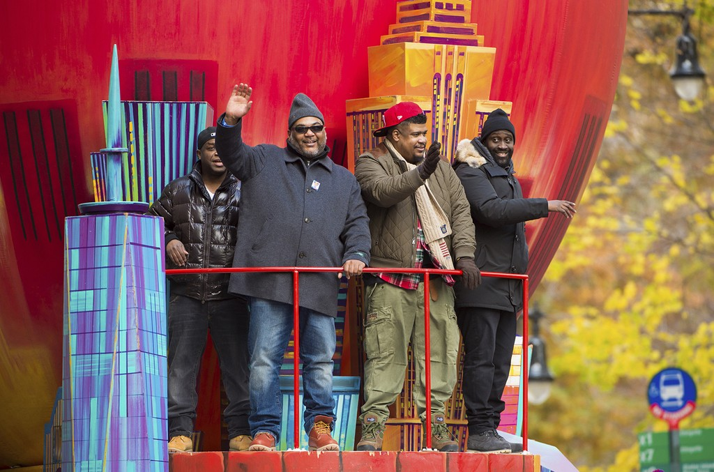De La Soul is seen during the Macy's Thanksgiving Day Parade on Nov. 24, 2016, in New York.