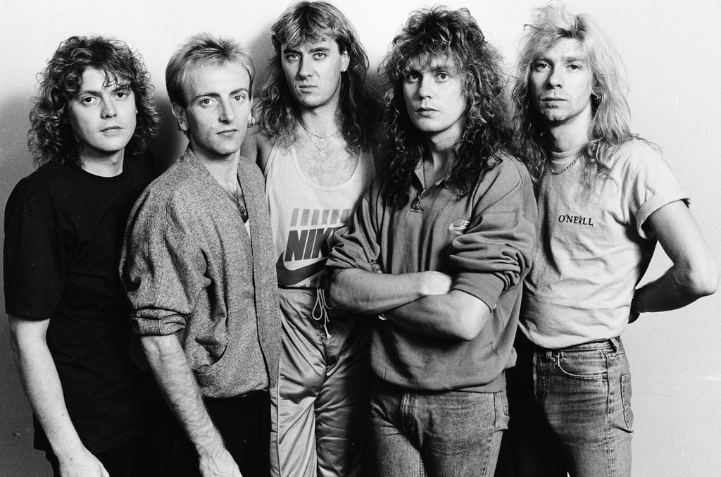 Def Leppard prior to their home town concert in Sheffield, England on Oct. 9, 1987.