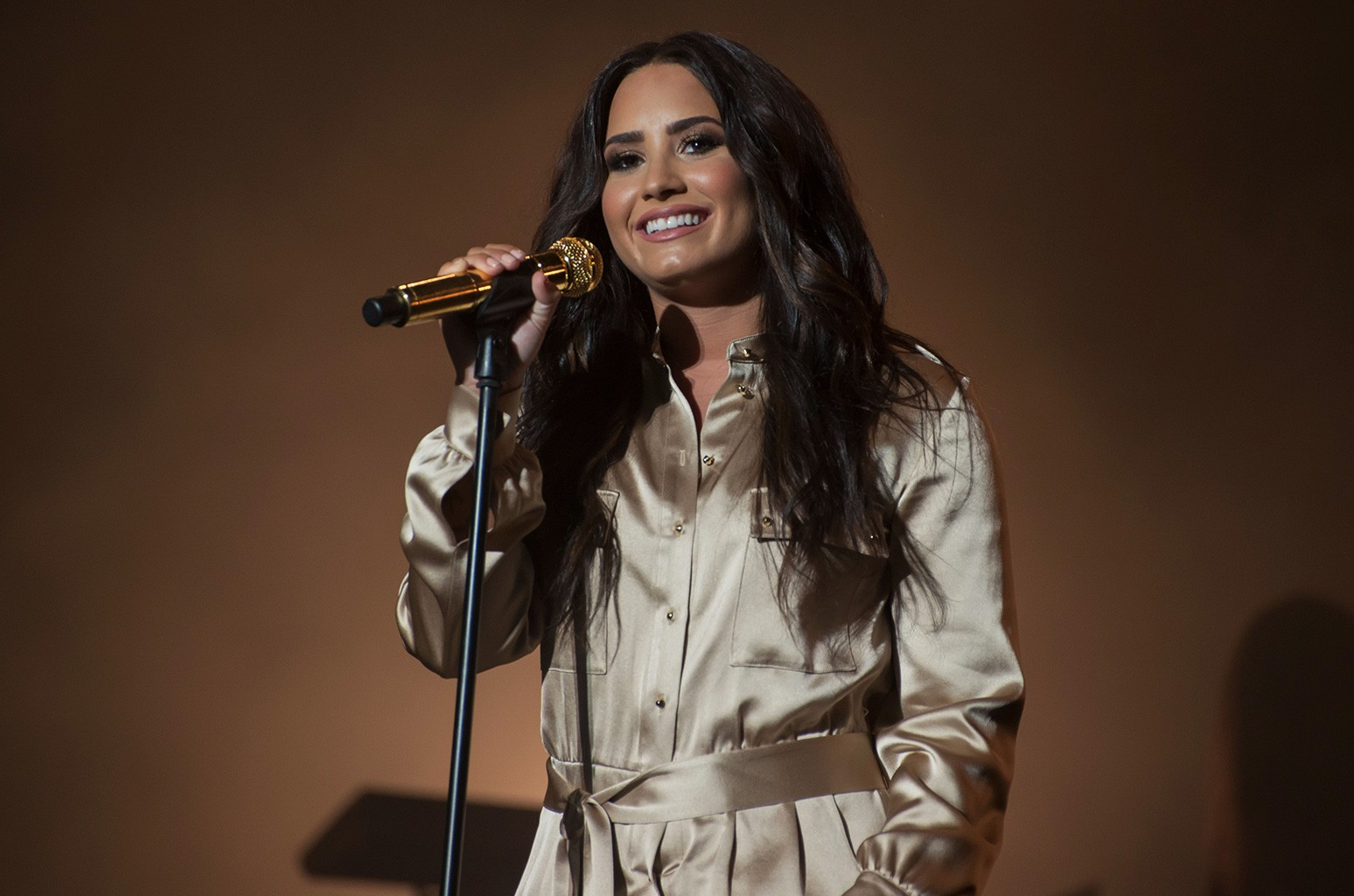 Demi Lovato performs during the 16th International Mawazine Music Festival at Olm Souissi stage in, Rabat, Morocco on May 20, 2017.