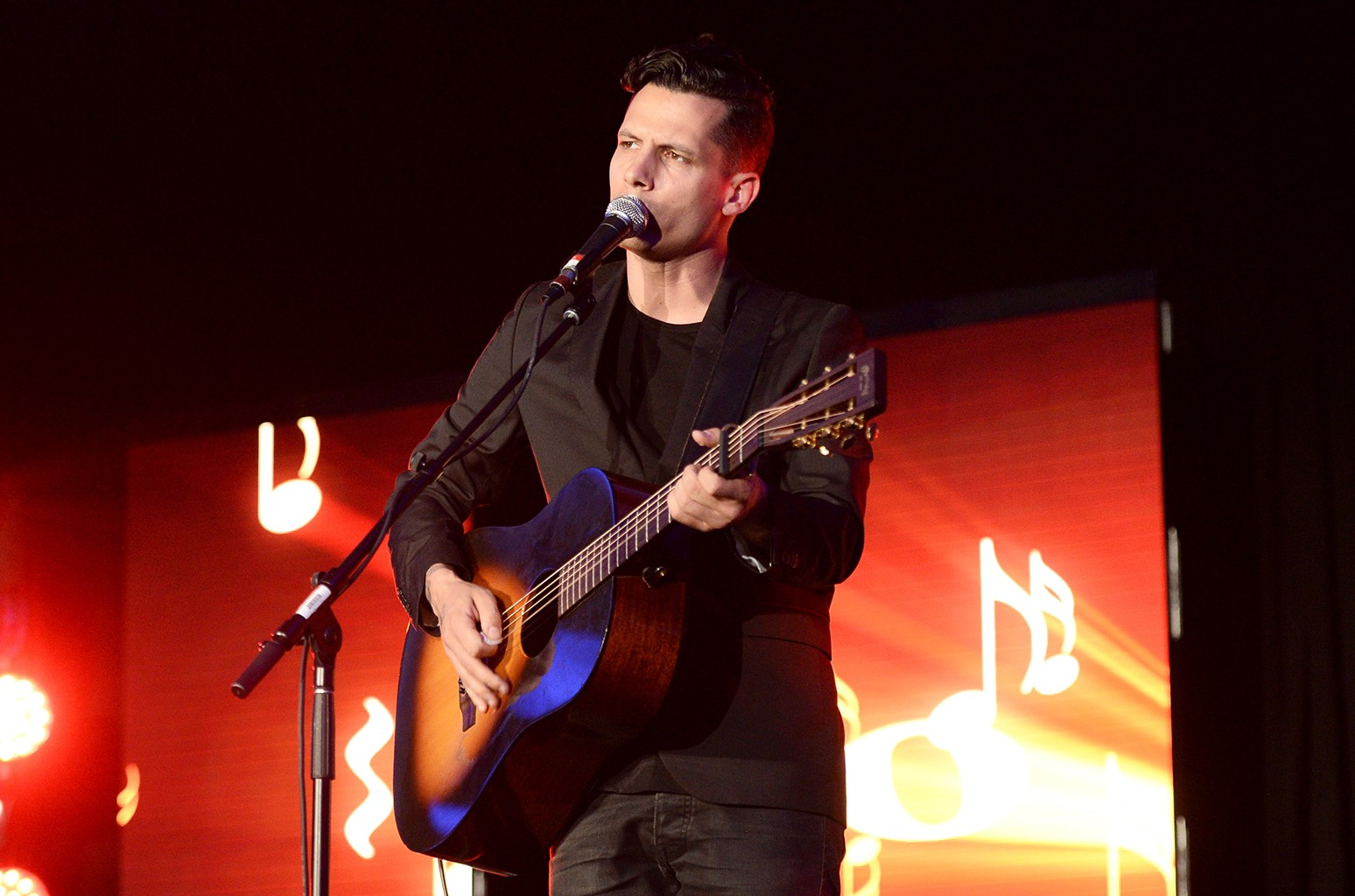 Devin Dawson performs during the National Music Publishers' Association Annual Meeting at Marriott Marquis Times Square on June 8, 2016 in New York City.