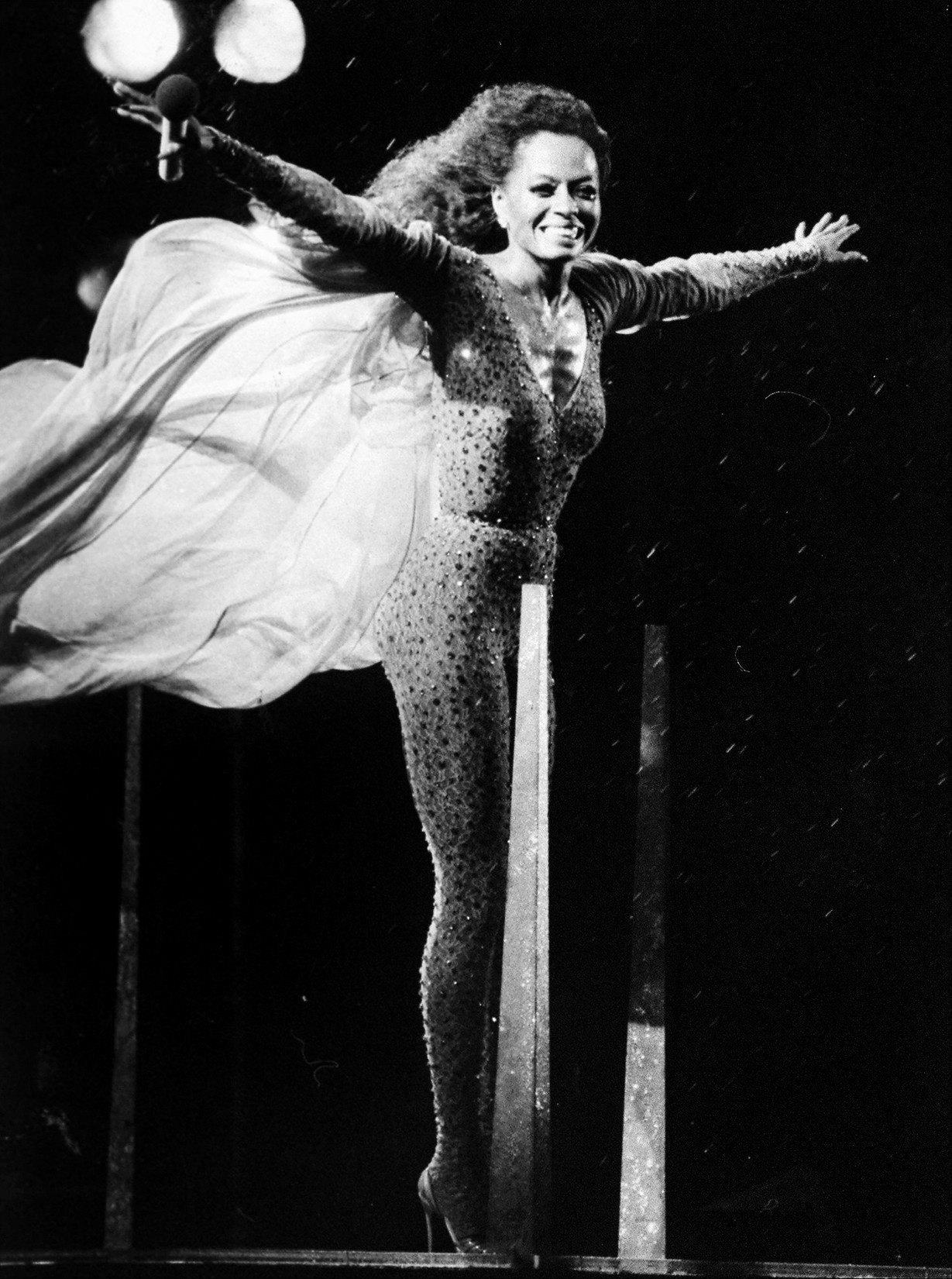 Diana Ross performs in Central Park in 1983.