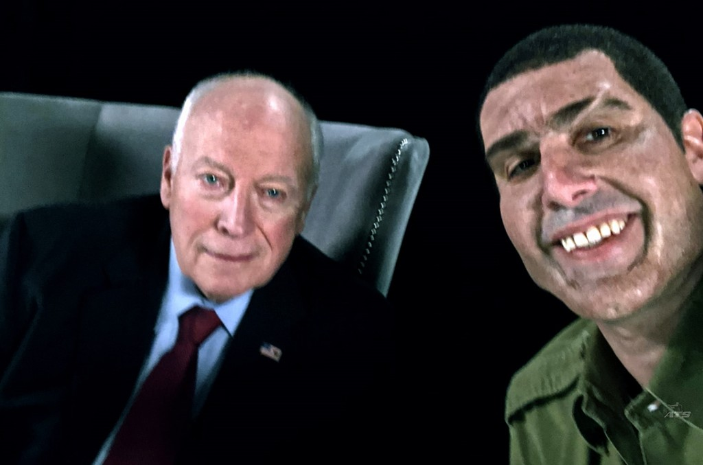 Dick Cheney and Sacha Baron Cohen