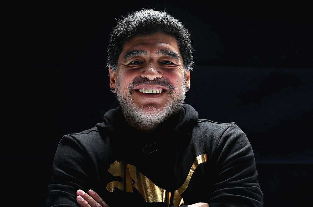 Diego Maradona photographed in 2017