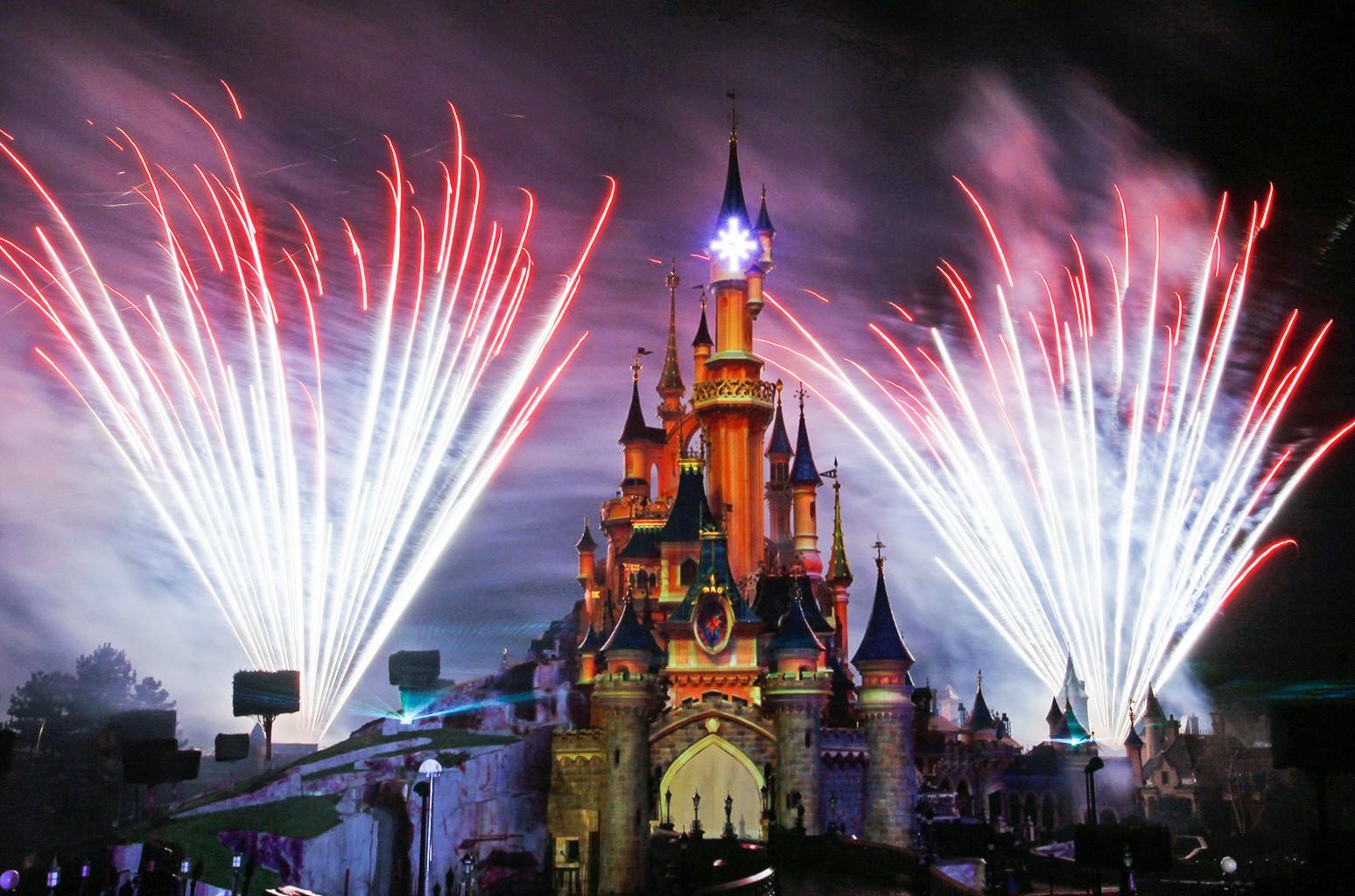 Disneyland's theme park in Marne-la-Vallee, east of Paris.