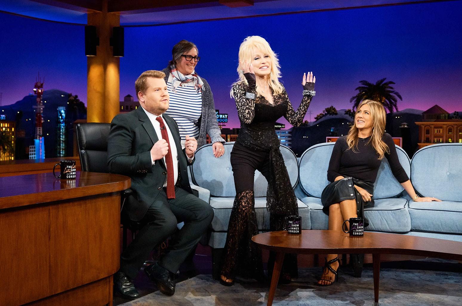 Dolly Parton and Jennifer Aniston