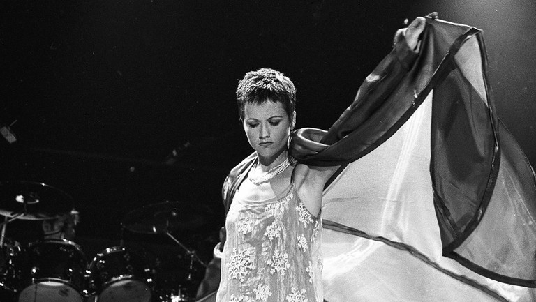 <p>Dolores O&#39&#x3B;Riordan of The Cranberries onstage in Dublin&#39&#x3B;s Point Depot on Feb. 6, 1995.</p>