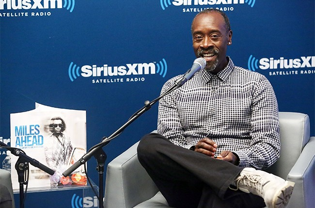 Don Cheadle takes part in SiriusXM's 'Town Hall' with Don Cheadle on SiriusXM's Real Jazz Channel at the SiriusXM studios on March 21, 2016 in New York City.  =