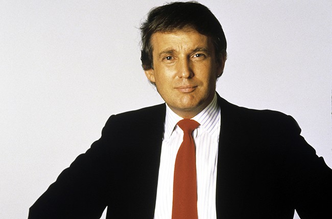 Donald Trump photographed in 1987 in New York City.