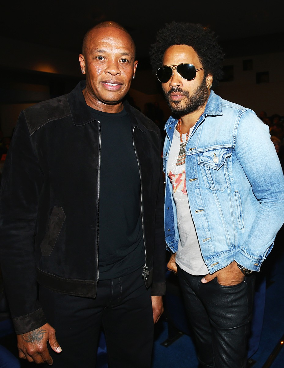 Dr.-Dre-and-Lenny-Kravitz-miles-ahead-2016