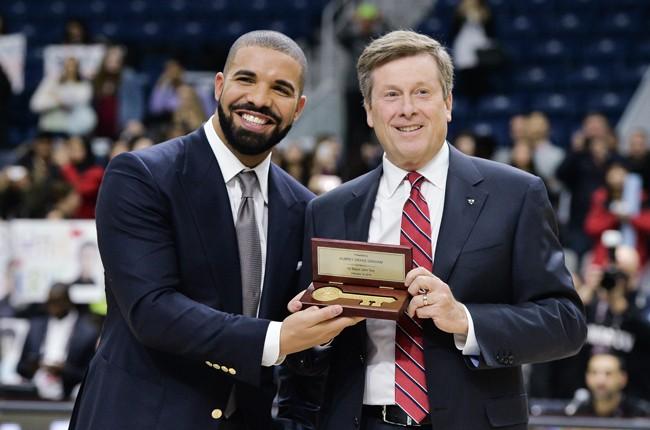 Drake and Toronto Mayor John Tory