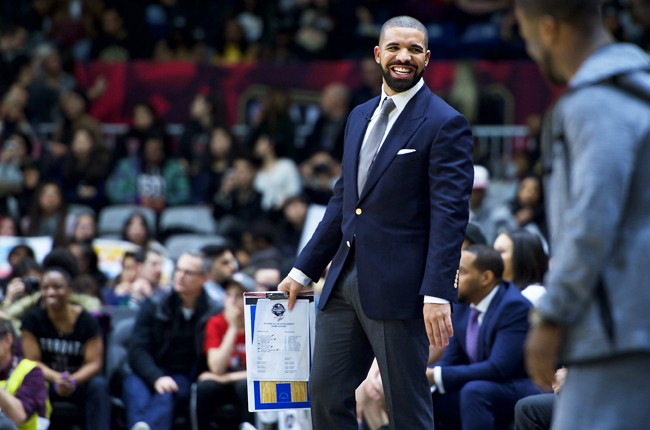 Drake coaches at the NBA All-Star Celebrity Game