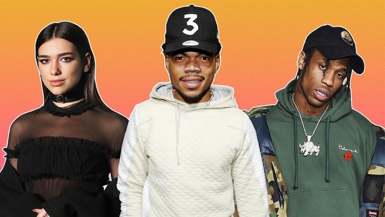 <p>Dua Lipa, Chance the Rapper &amp&#x3B; Travis Scott</p>