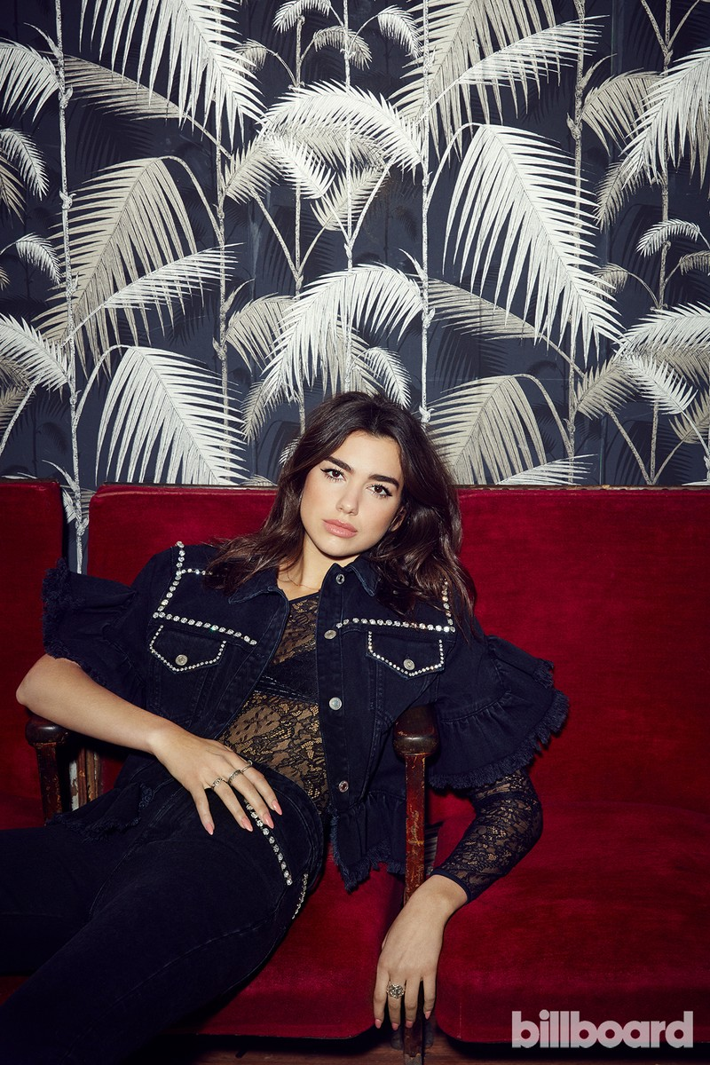 Dua Lipa photographed Feb.20 at Dalston Heights in London. Hair by Mark Francome at CLM. Makeup by Francesca Brazzo. Styling by Lorenzo Posocco.