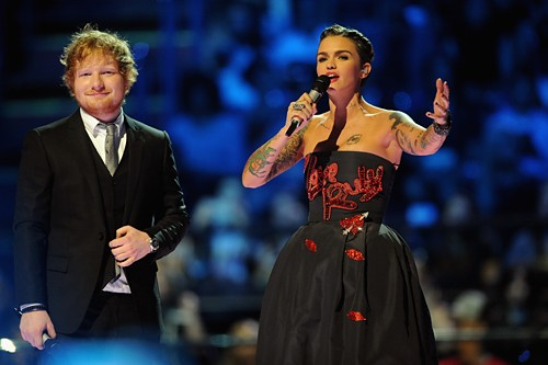 Ed Sheeran and Ruby Rose