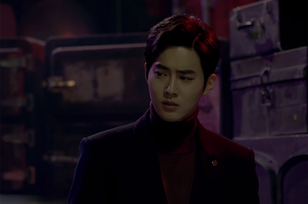 "Suho in EXO's music video for ""Curtain"""