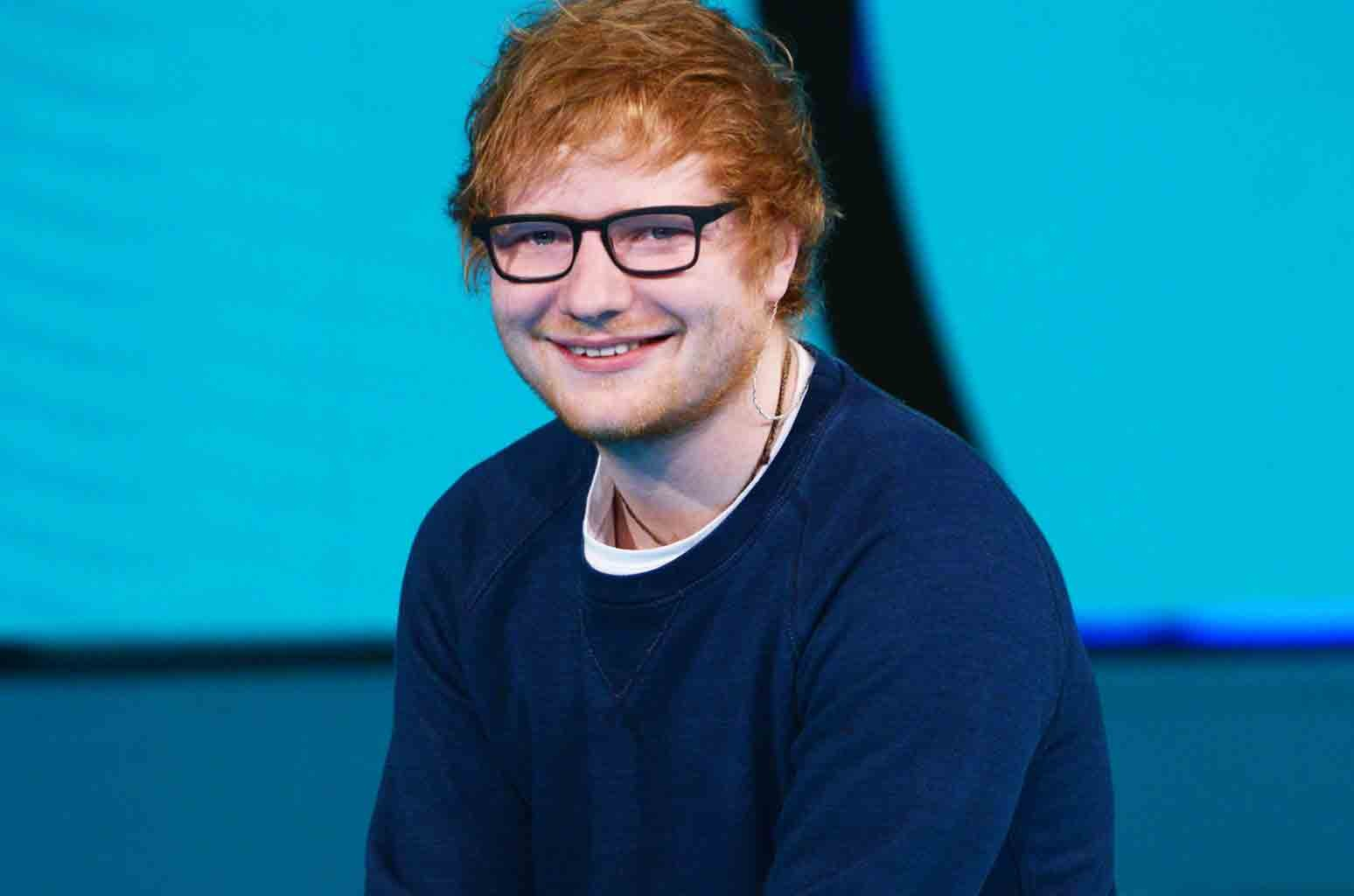 Ed Sheeran photographed on March 12, 2017.