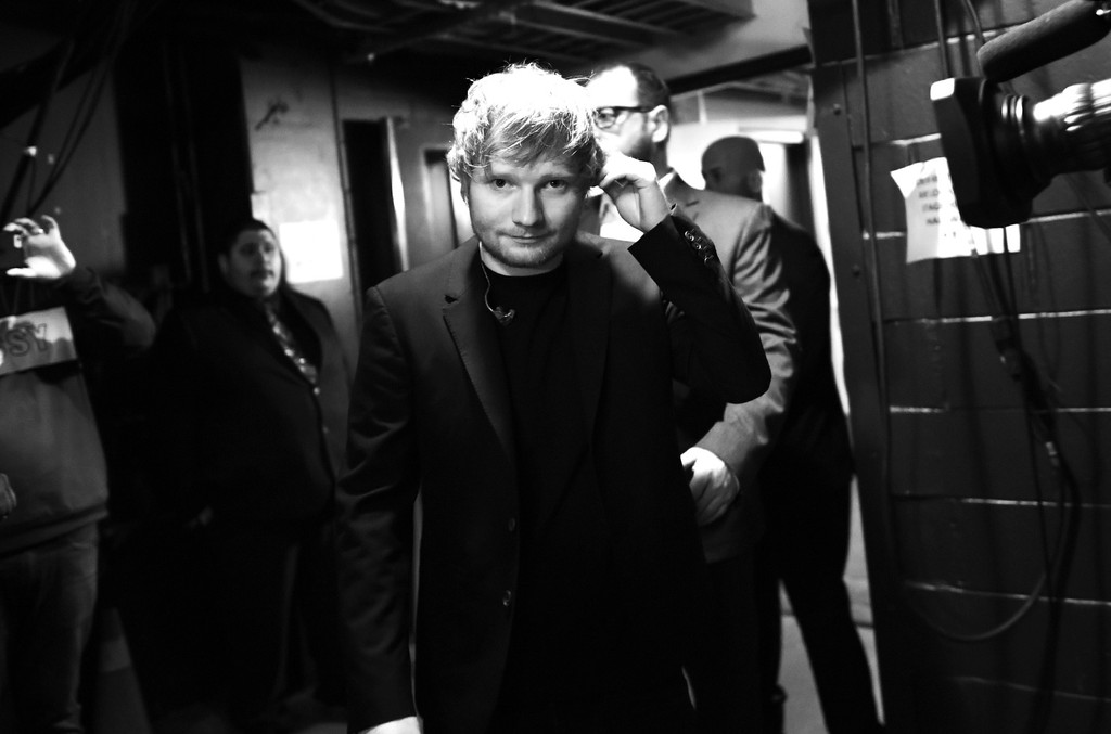 Ed Sheeran backstage at the 2017 iHeartRadio Music Awards which broadcast live on Turner's TBS, TNT, and truTV at The Forum on March 5, 2017 in Inglewood, Calif.