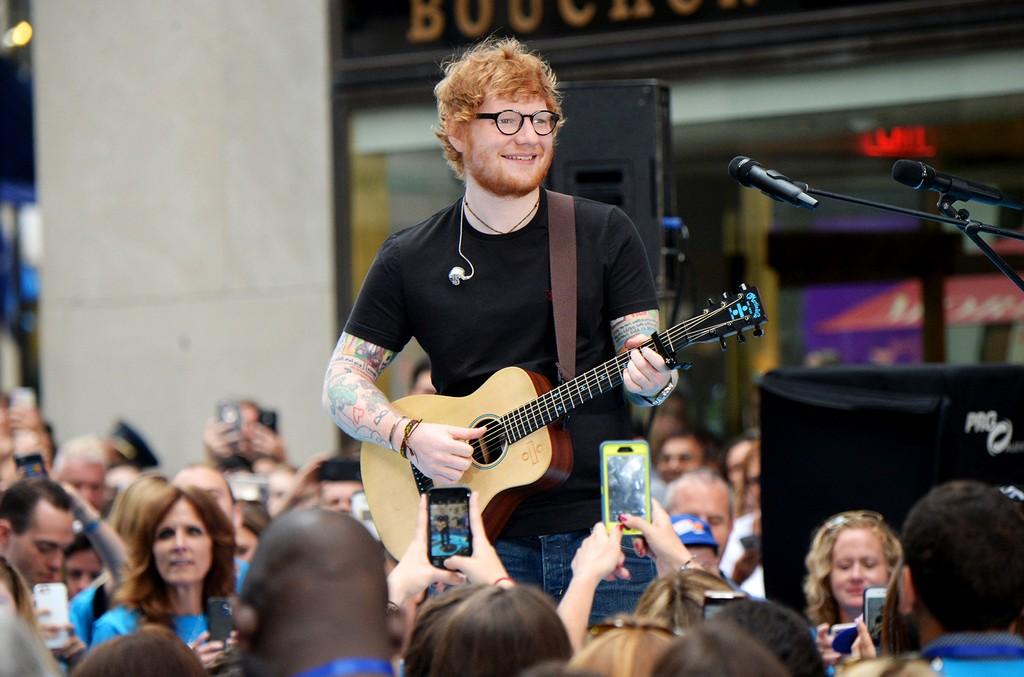 Ed Sheeran performs onstage during the Citi Concert Series on TODAY Presents Ed Sheeran at Rockefeller Plaza on July 6, 2017 in New York City.