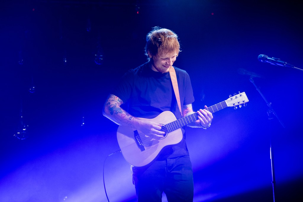 Ed Sheeran performs at the iHeartRadio Album Release Party for his newest album, 'Divide' at the iHeartRadio Theater in New York on March 7, 2017.