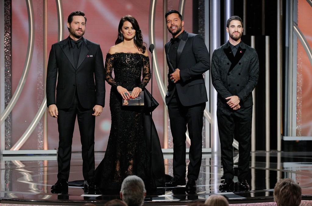 Edgar Ramirez, Penelope Cruz, Ricky Martin and Darren Criss